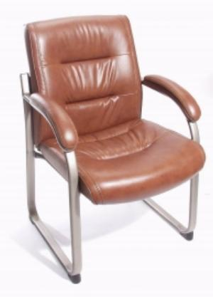 True Chestnut Bonded Leather Guest Chair 7528s B
